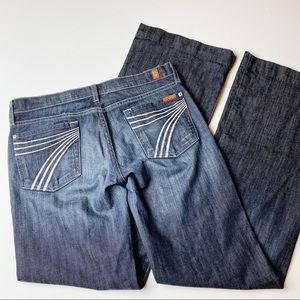 7 For All Mankind Dojo Flare Leg Jean 30